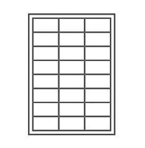 4000 Etiketten 48,5 mm x 25,4 mm kompatibel zu Avery Zweckform 4780, weiss