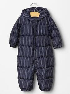 Gap Baby Girl 0 6 Months Nwt Warmest Puffer Snowsuit