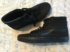 VANS High Tops Skate Shoe All Black Old Skool Canvas 500714