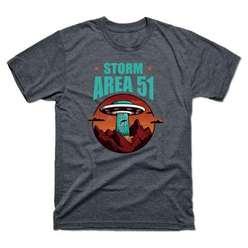 Storm Area 51 Shirt Invading UFO Alien Area Funny Graphic Tee Men T-shirt