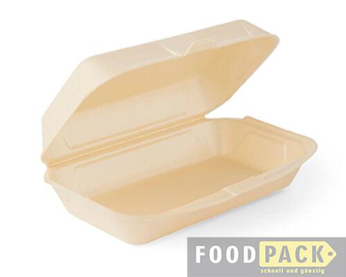 Allzweck-Box Menü-Boxen 250 Stück 240×160×72 mm EPS Verpackung Hamburger-Boxen