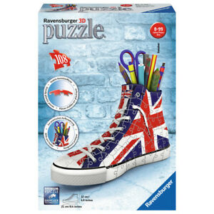 Ravensburger Union Jack Sneaker 108 Piece 3D Puzzle NEW