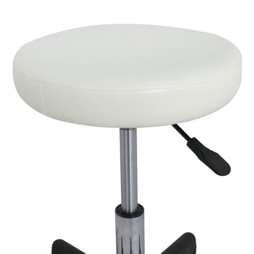 2X Adjustable Height Tattoo Salon Stool Rolling Chair Facial Massage White Health & Beauty