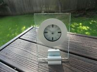 Studio Nova Infinity Contemporary Aluminum And Glass Quartz Clock