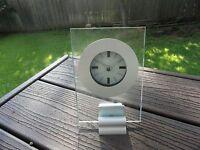 Studio Nova Infinity Contemporary Aluminum And Glass Quartz Clock