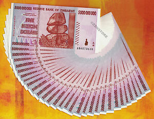 Image Is Loading 5 Billion Zimbabwe Dollars X 30 Banknotes Lot
