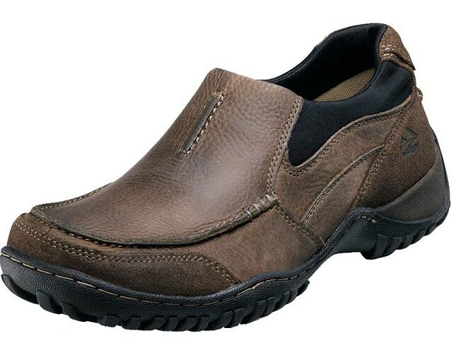 Nunn Bush Portage brown leather casual hiking walking shoes GEL sz 9.5 Med NEW