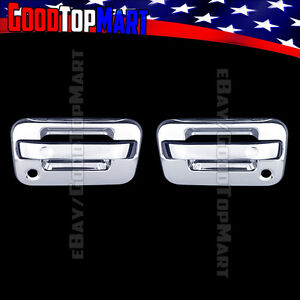 For Ford F150 2004 2014 Chrome 2 Door Handle Covers With P Keyhole W