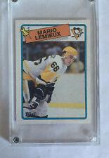 1988 Topps Mario Lemieux #1 Hockey Card