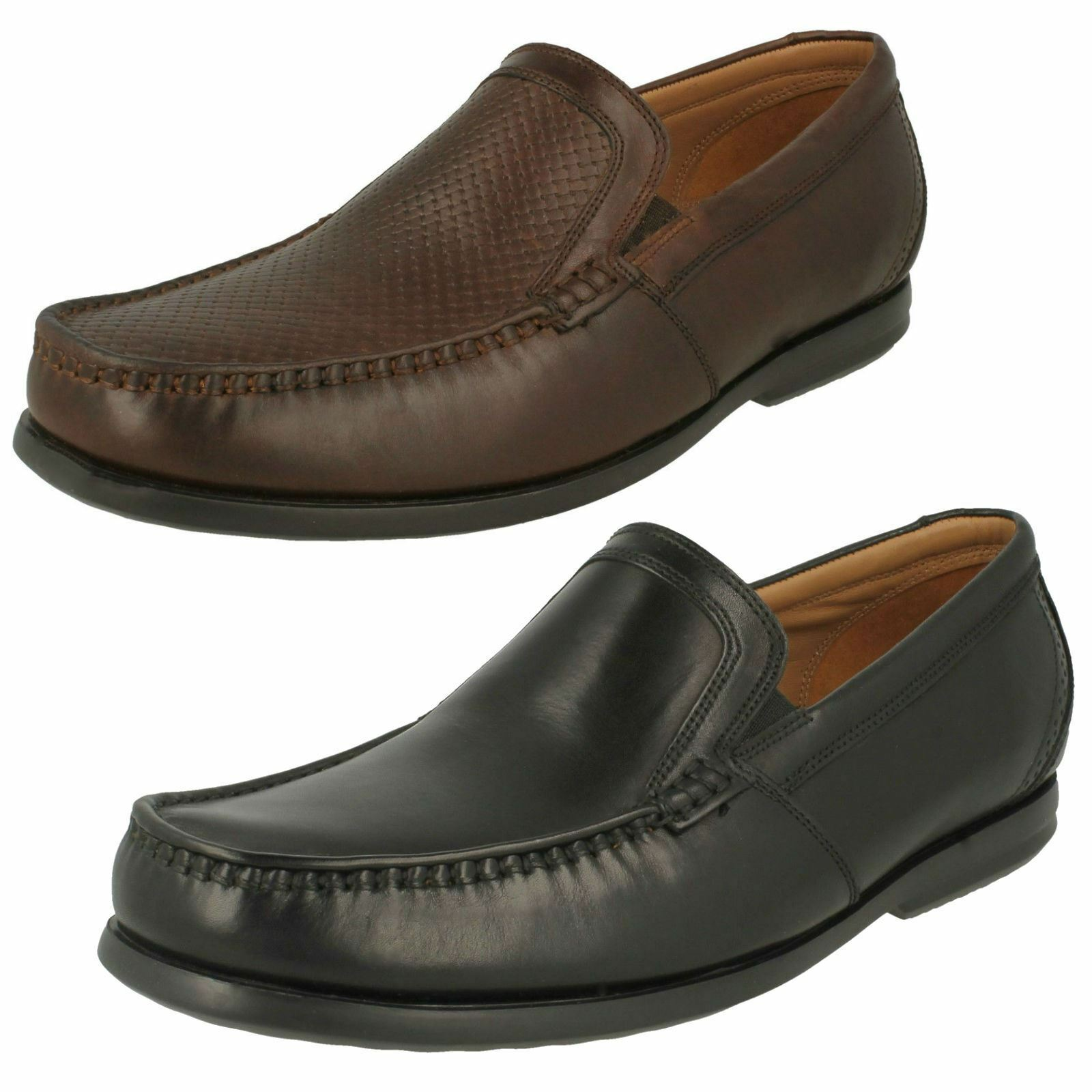 Mens Clarks Slip On Fastening Formal Leather Loafers Un Gala Free