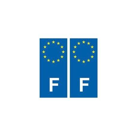 F Europe autocollant plaque sticker France droits