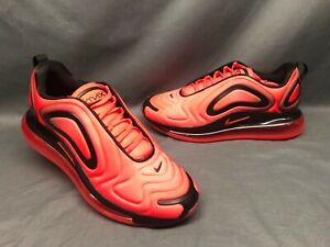 Nike Men S Air Max 720 Running Sneakers Bright Crimson Black Size