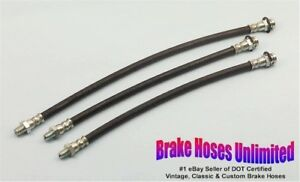 BRAKE-HOSE-SET-American-Motors-Gremlin-1972-8cyl-Drum