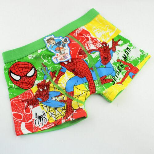 4PC enfants garçons Spider-Man Cartoon Underwear Boxer Enfants Culotte Enfants Sous-vêtements