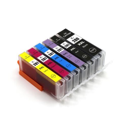 chip for Canon TS9120 TS9100 TS8120 6 PK PGI-280 CLI-281 XXL Ink Cartridges