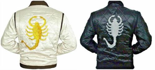 Drive Movie Ryan Gosling Slim Fit Trucker Scorpion Mens Satin Jacket BEST SALE