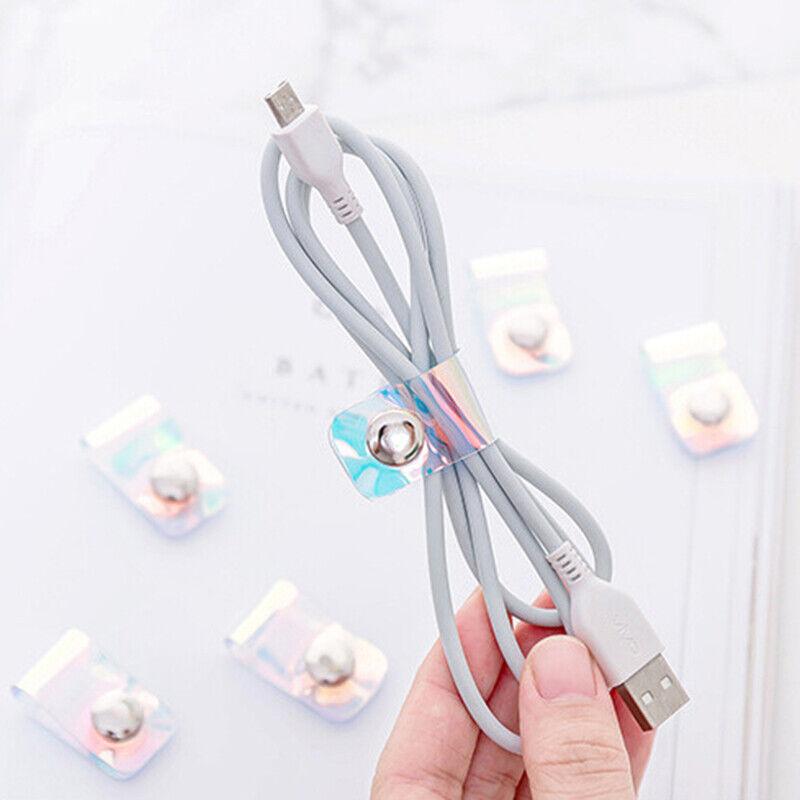 10pc Headphone Earphone Cord Winder Twist Tie Wrap Organizer Cable Ties Holder F