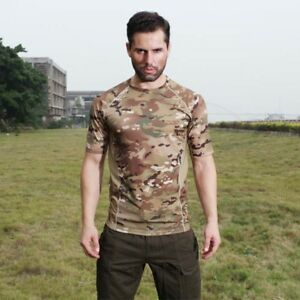 US-Men-Camo-T-Shirt-Tactical-Tee-Short-Sleeve-Military-Army-Camouflage-Tops-2XL