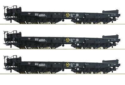 """OVP Roco H0 76758-S Schwerlastwagen /""""Samms/"""" der DB 6-achsig - NEU 3 Stück"""
