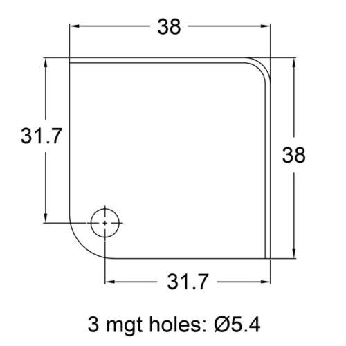 Case Nickel Metal Flat Corners Speaker Cabinet Amp Set of 8 !!
