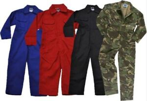 New Kids Childrens Childs Boys Girls Tearaway Junior Coverall Overall Boilersuit