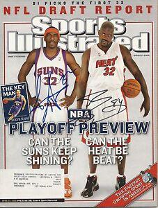 GFA-Sports-Illustrated-SHAQUILLE-O-039-NEAL-amp-AMARE-Signed-SI-Magazine-AD1-COA