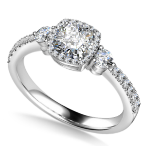 1.50 Ct Cushion Solitaire Moissanite Anniversary Ring 18K Real White Gold Size 9