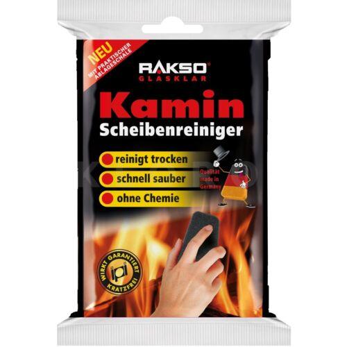 RAKSO Kamin Scheiben Reiniger 1 Paket 7,60€//1Stk kratzfrei ohne Chemie