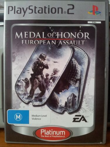 1 of 1 - PS2 Game Medal Of Honor European Assault Platinum GREAT CONDITION Manual PAL
