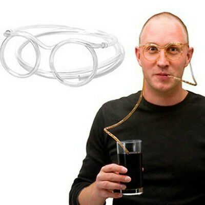 Clear Funny flexible Soft Glasses Straw Glasses Drinking Tube Fun Drinking
