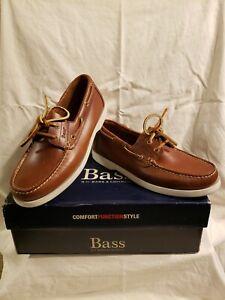 brand new men's gh bass seafarer casual boat shoes medium