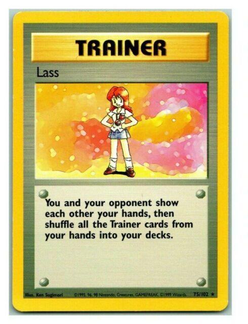 Lass 75/102 Base Set Pokemon Card P Condition *