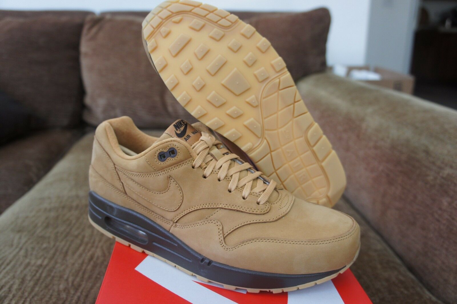 Nike air max 1 braune premium - weizen flachs barock braune 1 pack collection fcc543