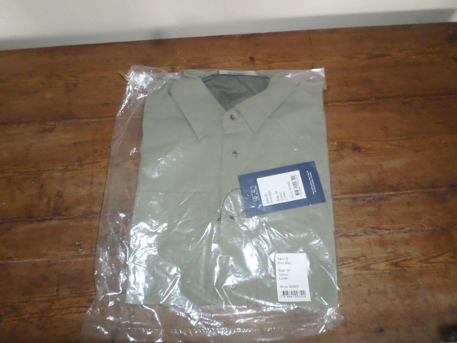 Men's Shirt - Haglöfs- SALO LS - SIZE MEDIUM - COLOUR LICHEN