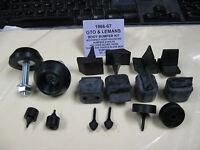 1966-67 Gto, Lemans, Tempest Rubber Bumper Kit (orignal Hood Adjusters)