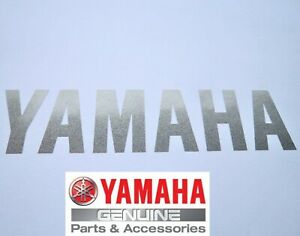 Yamaha Genuine 100mm X 25mm Silver Sticker Decal Badge Logo Uk Stock Ebay