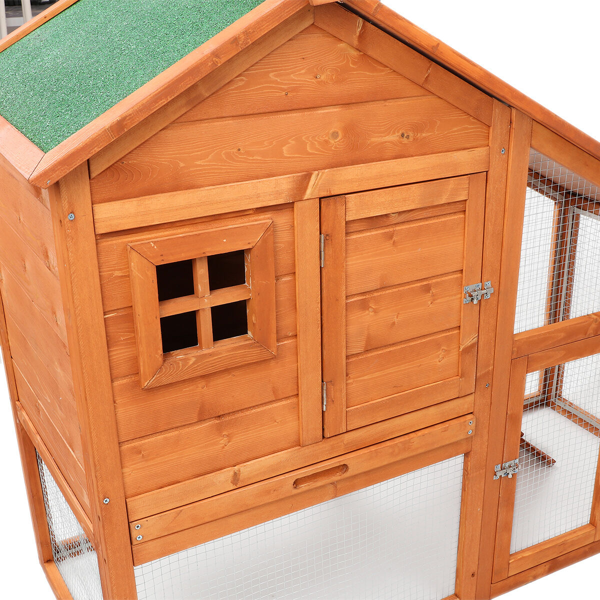 Wooden Chicken Coop Rabbit Hutch Pet Cage Wood Small
