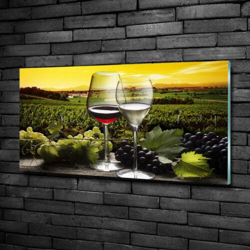Glas-Bild Wandbilder Druck auf Glas 100x50 Essen /& Getränke Wein und Trauben