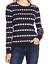 Vince-Camuto-Polka-Dot-Jacquard-Crewneck-Cotton-Blend-Sweater-XS-Blue-White-NWT miniature 1