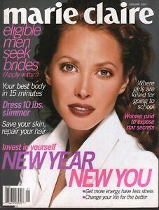 Marie Claire Fashion Magazine January 1997 Christy Turlington  091020ame