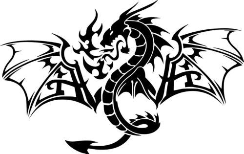 """Dragon Fantasy Myth WingsCar Window Wall Truck Vinyl Sticker Decal 6/"""" x 3.7/"""""""