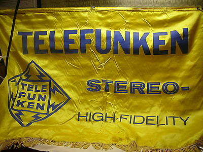 Vintage Advertising Banner Telefunken Stereo - High Fidelity c1960s
