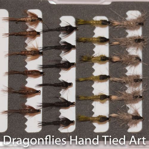 24 Hares Ear /& Pheasant Tail Nymphs Trout Fly Fishing Flies by Dragonflies