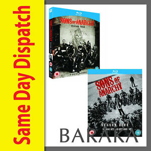 SONS-OF-ANARCHY-COMPLETE-SEASON-SERIES-4-amp-5-Blu-ray-RB-box-set-not-a-DVD