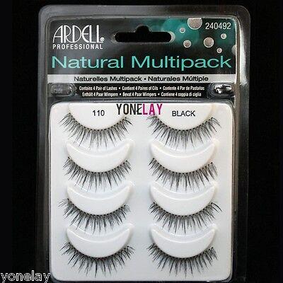 4 Pairs ARDELL 110 Natural Multipack False Eyelashes Fake Eye Lashes