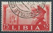1941 LIBIA USATO FRATELLANZA D'ARMI 75 CENT - RR13795