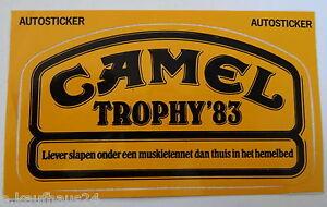 Bumper Stickers Camel Trophy 1983 Zaire Land Rover 88 Defender Netherlands