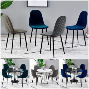 Dining Chairs Velvet Fabric Padded