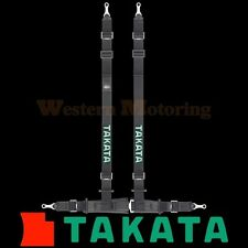 Takata Seat Belt Harness: Drift II 4-Point ASM - Black (Bolt-On) 74001US-0