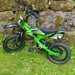 """Kawasaki Kinderfahrrad Kids Bike 12"""" mit Ruecktritt und Vorderbremse"""